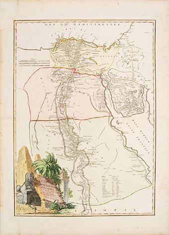 CARTE DE L'EGYPTE ANCIENNE et MODERNE. ROBERT DE VAUGONDY.
