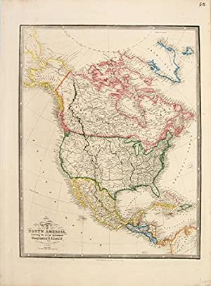 Map of North America, Exhibiting the recent: WYLD, James.