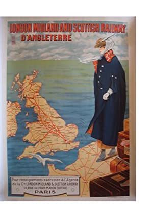 AFFICHE : LONDON MIDLAND AND SCOTTISH RAILWAY D'ANGLETERRE