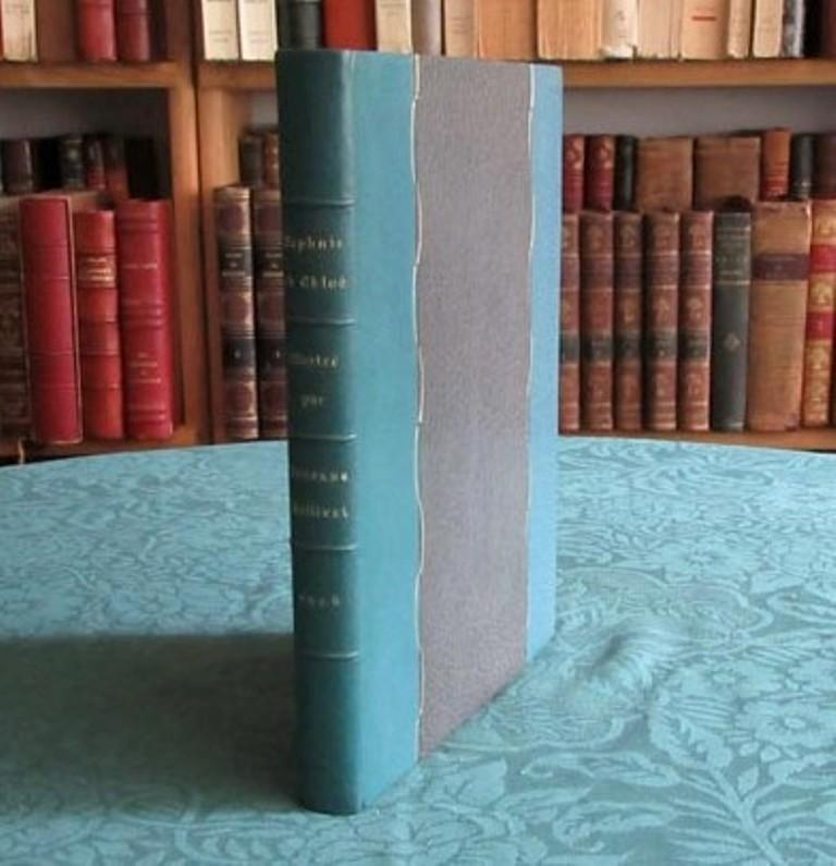 Daphnis et Chloé. LONGUS Fine Hardcover Compositions lithographiques originales de Suzanne Ballivet. 1 frontispice, 16 hors-texte et nombreuses illustrations dans le texte. (Complet & Contrô