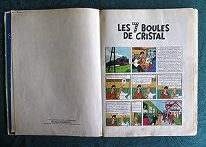 Tintin Les 7 Boules de cristal. (Dos vert) B22.: HERGE