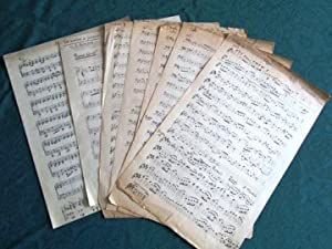 Lot de Partitions manuscrites. 8 feuillets.