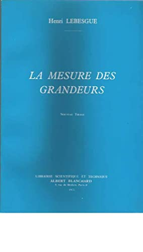 LA MESURE DES GRANDEURS.: LEBESGUE Henri.