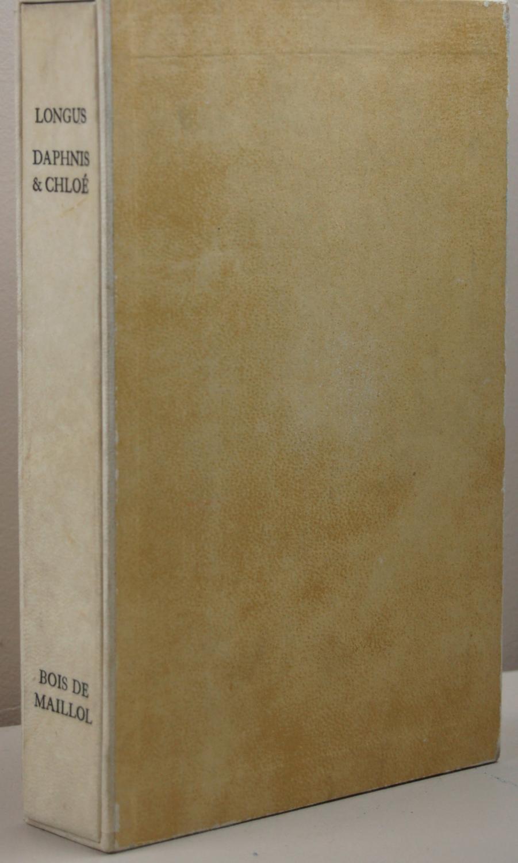 Daphnis et Chloé. [Version d'Amyot revue et complétée par P.-L. Courier. Bois originaux d'Aristide Maillol]. (Maillol). LONGUS. in-8 de (4)-217-(4) pp. ; La couverture porte : Les pastorales de Longus ou Daphnis & Chloé. Version d'Amyot revue et complétée par P.-L. Courier. Boi