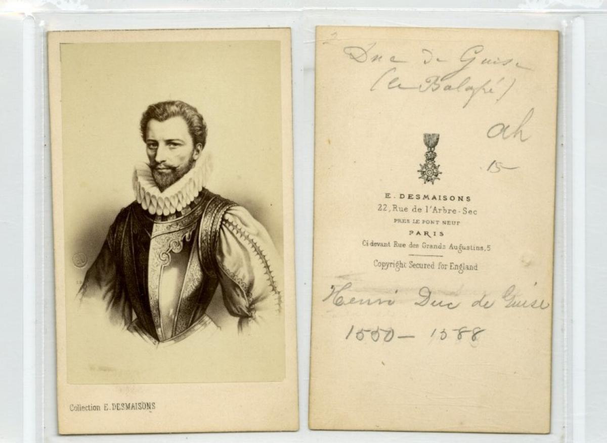 E Desmaisons Henri Ier De Guise Dapres Photographie Originale