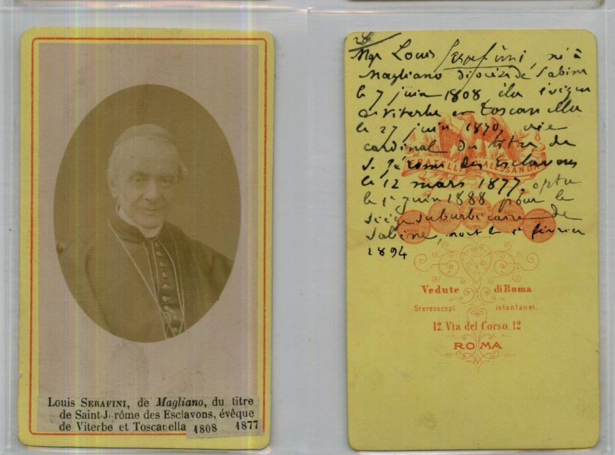 Religion DAlessandri Rome Le Cardinal Serafini Photographie Originale