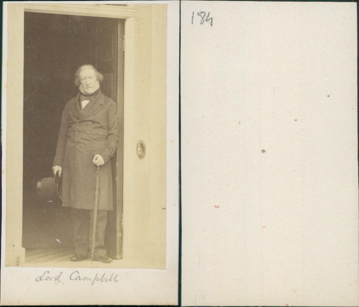 Lord Campbell John 1st Baron Photographie Originale Foto Des Verkaufers