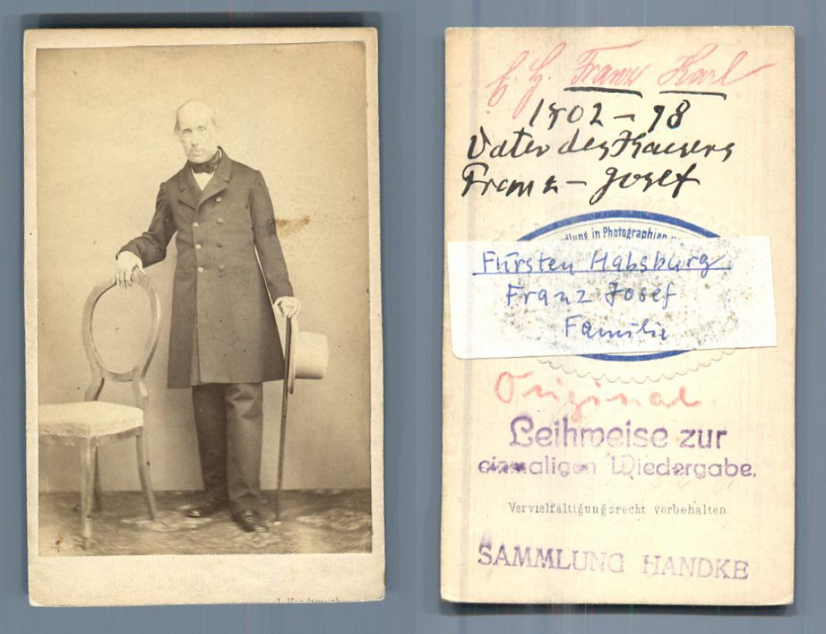Archduke Franz Karl Joseph of Austria: Photographie originale /