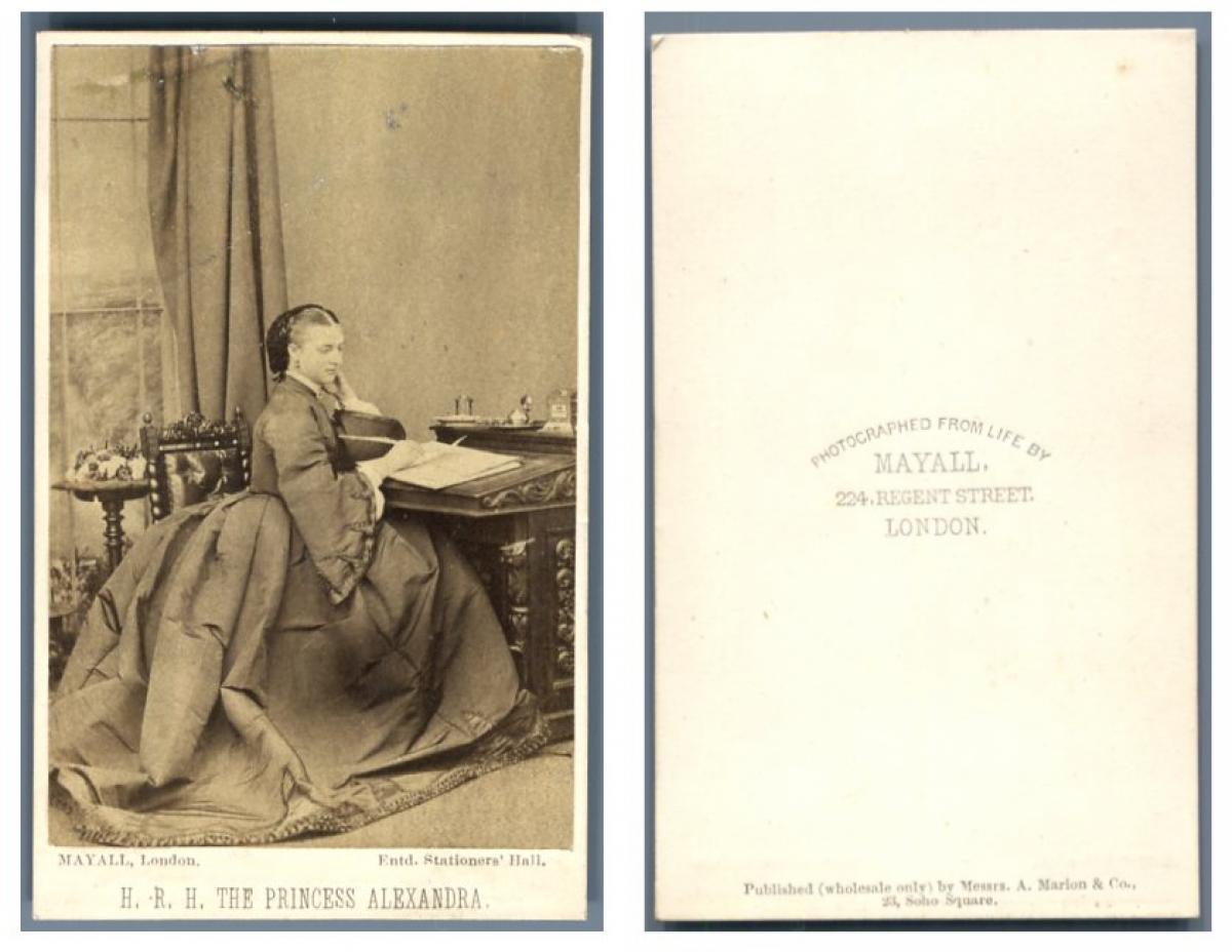 Mayall Londres La Reine Du Royaume Uni Alexandra Photographie Originale