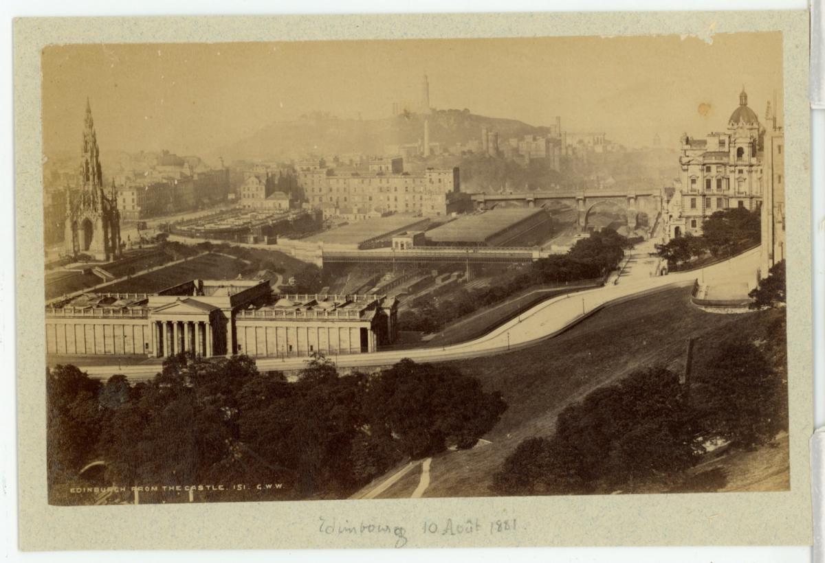 Ecosse Scotland Edinburgh Form The Castle Photographie Originale Foto Des Verkaufers