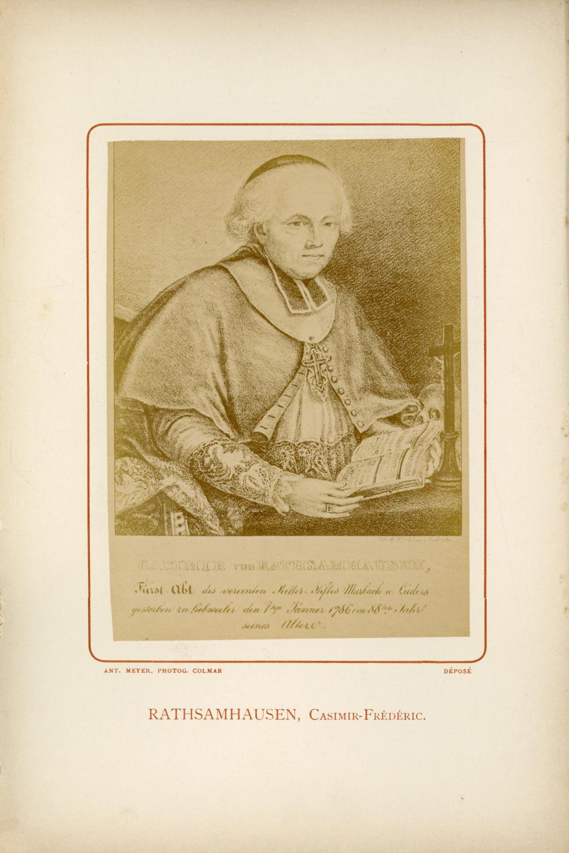 Colmar Casimir Frederic Rathsamhausen Photographie Originale