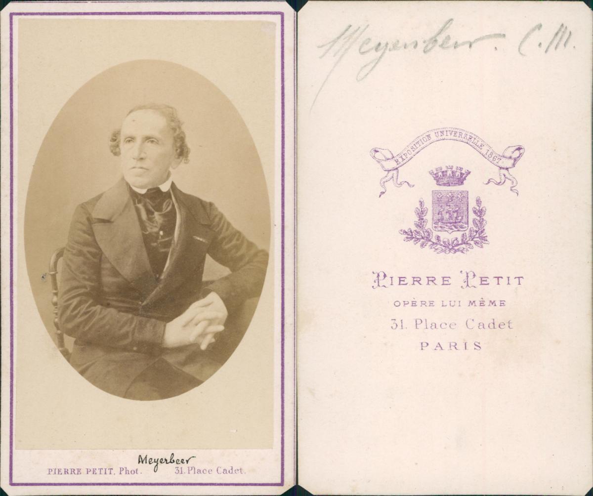 Pierre Petit Paris Giacomo Meyerbeer Photographie Originale Foto Des Verkaufers