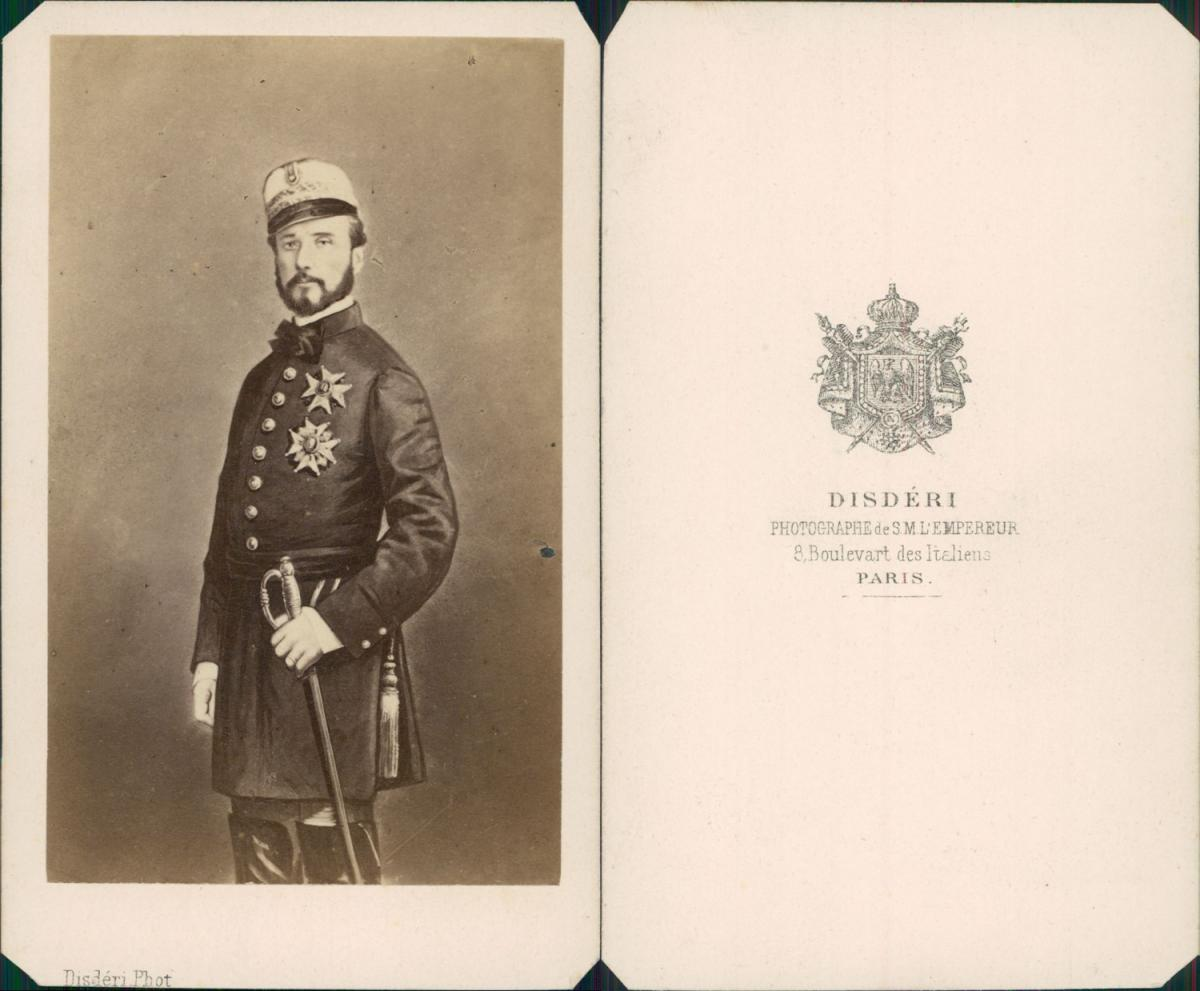Disdéri, Don Juan Prim, comte de Reus,: Photographie originale /