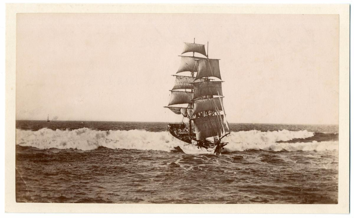 Angleterre Navire Voilier Deux Mats By Photographie Originale Original Photograph 1885 Photograph Photovintagefrance