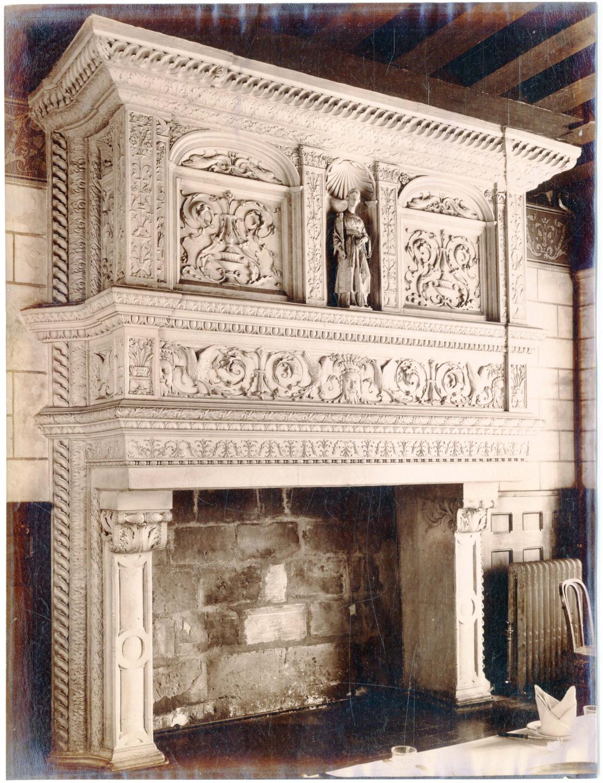 France Tours Cheminee Typique Sculptee Interieur De Maison Decoration By Photographie Originale Original Photograph 1885 Photograph Photovintagefrance