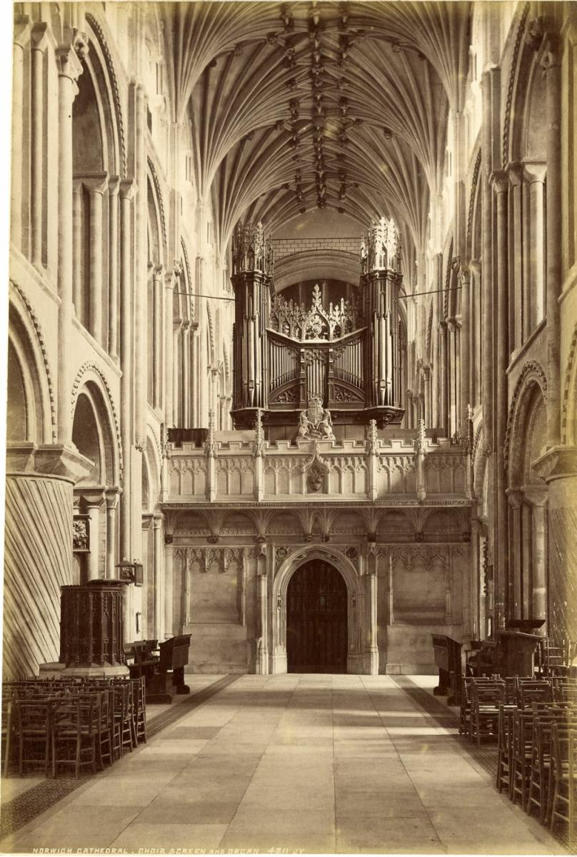 J.V. Royaume-Uni, Norwich Cathedral, Choir Screen and ...