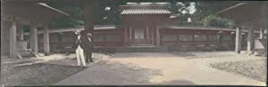 Japan, Panoramic View of a Japanese Temple