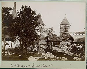 Paris, Exposition Universelle de 1900. Le Village Suisse