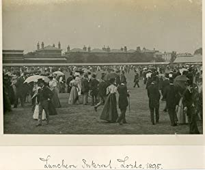 UK, London. Lunchon interval. Lords 1895 (cricket)