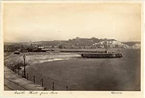 Frith's Series, UK, Dover, Castle Hill from Pier