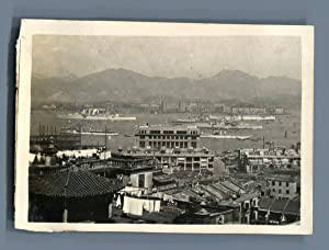 Chine, Rade de Hong Kong. Quartier Chinois