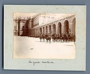 Espagne, Madrid, La garde montante: Photographie originale /