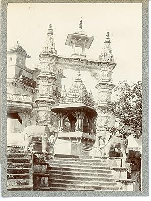 India, Amber (Jaipur) Jagat Shiromani Ji Temple: Photographie originale /