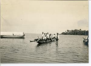 Burma, Natives crossing the river