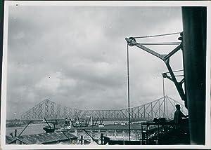 India, Howrah Bridge: Photographie originale /