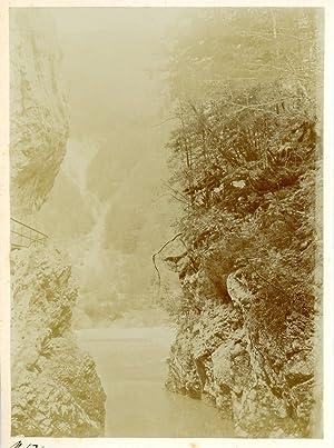 Suisse, Gorge de l'Areuse: Photographie originale /