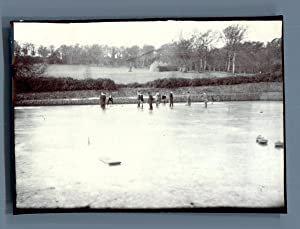 UK, Group playing Curling