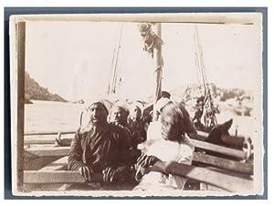 Egypte, Assouan (?????), Rameurs: Photographie originale /