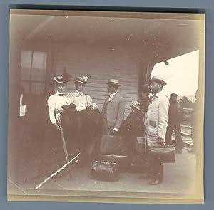 Canada, Acadia, Témiscouata Railway Station: Photographie originale /