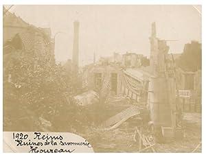 France, Reims, Ruines de la Savonnerie Houzeau: Photographie originale /