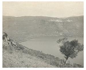 Italie, Lago di Nemi: Photographie originale /