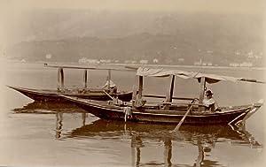 France Rameurs dans un port: Photographie originale /