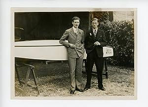 Les rameurs d'aviron à Suresnes.: Photographie originale /