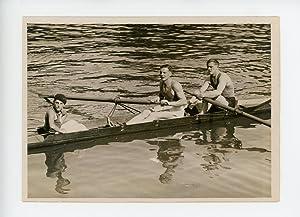 Equipe de France d'aviron 2 rameurs avec: Photographie originale /