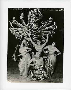 Les Ballets Hindous, avec Ram Gopal, Kunmudini,: Photographie originale /