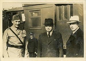 Le maréchal Mannerheim et le président finlandais: Photographie originale /