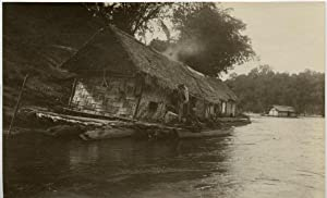 Malaisie, village on the river