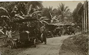 Malaisie, Two 28 h.p. Milnes-Daimler lorries and a charabanc