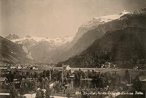 Suisse, Engelberg, vue dep. Grand Hôtel Kurhaus: Photographie originale /