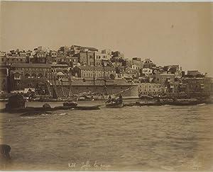 Bonfils, Palestine, Jaffa, la passe: Photographie originale /
