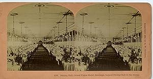 STEREO Scène de genre Salle de reception: Photographie originale /