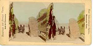 Stereo Etats-Unis, Yellowstone National Park, Golden Gate and Pillar