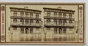 Giorgio Sommer STEREO Italie Venise Palazzo Vendramin: Photographie originale /