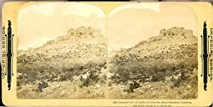 STEREO Palestine, Mount Hermon, General View od Castle of Subeibeh