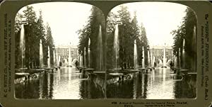 STEREO, Russia, Peterhof, avenue of Fontains And Impérial Palace