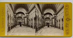 Giorgio Sommer STEREO Italie, Rome, Vatican, Braccio: Photographie originale /